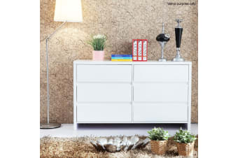 3 Level Drawers Storage Chest Cabinet - White