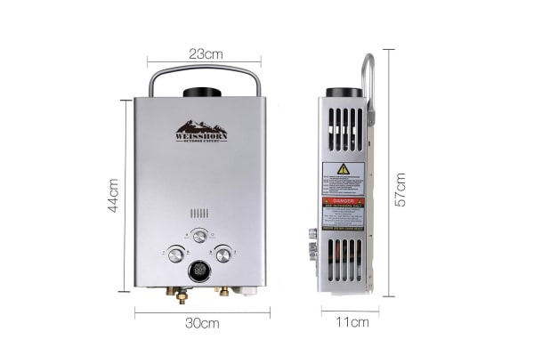 Weisshorn Outdoor Gas Water Heater (Silver)