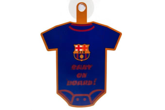 FC Barcelona Baby On Board Sign (Blue/Red) (One Size)
