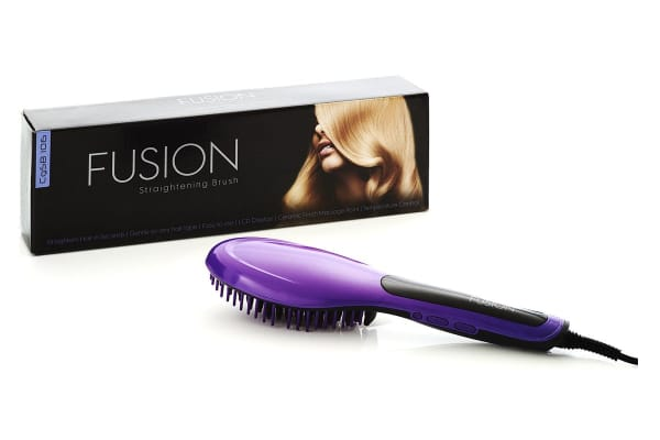 FUSION Hair Straightening Brush (Purple)