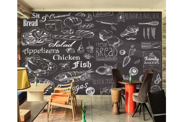 3D Burger 1331 Food Wall Murals Woven paper (need glue), XXL 312cm x 219cm (WxH)(123''x87'')