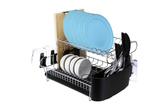 Stainless Steel Dish Rack, Kitchen Aid Dishrack, Dish drainer with Tray & Holder