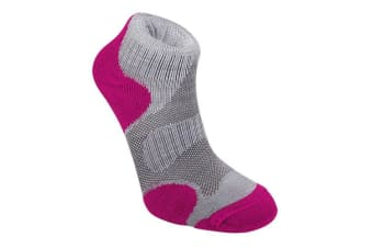 Bridgedale Trail Sport Womens Sock Grey/Raspberry