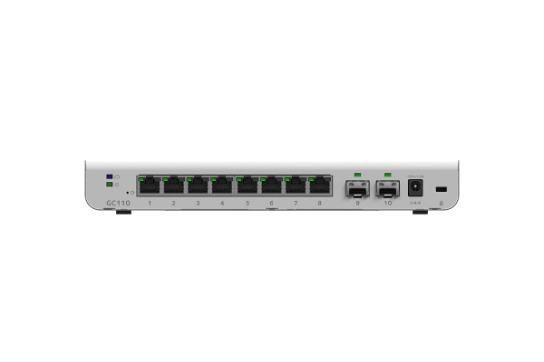 Netgear Insight Managed 8-Port Gigabit Ethernet Smart Cloud Switch with 2 SFP Fiber Ports (GC110-100AUS)