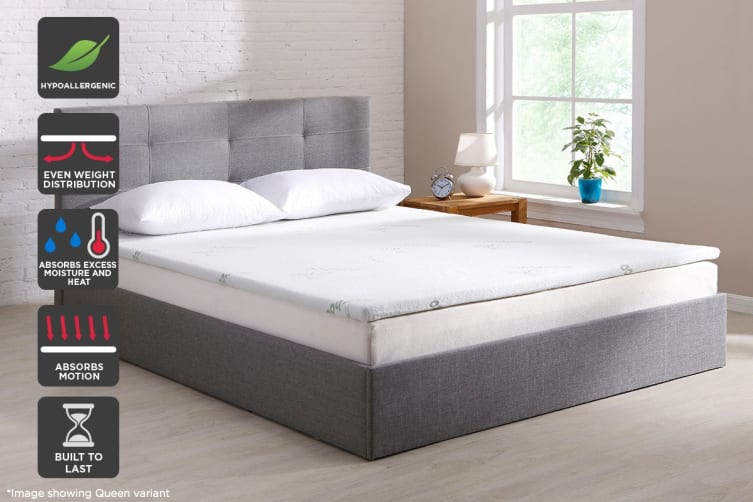 Ovela Bamboo Memory Foam Mattress Topper (King)