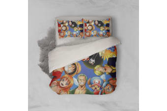 3D Anime Pirate  Quilt Cover Set Bedding Set Pillowcases 30-Queen