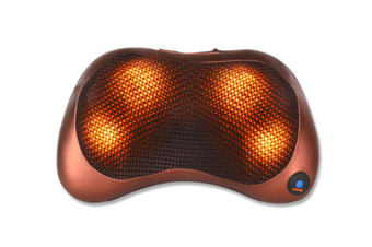 Select Mall Shiatsu Back and Neck Massager Kneading Massage Pillow with Heat for Shoulders Lower Back CalfUse at Home-4