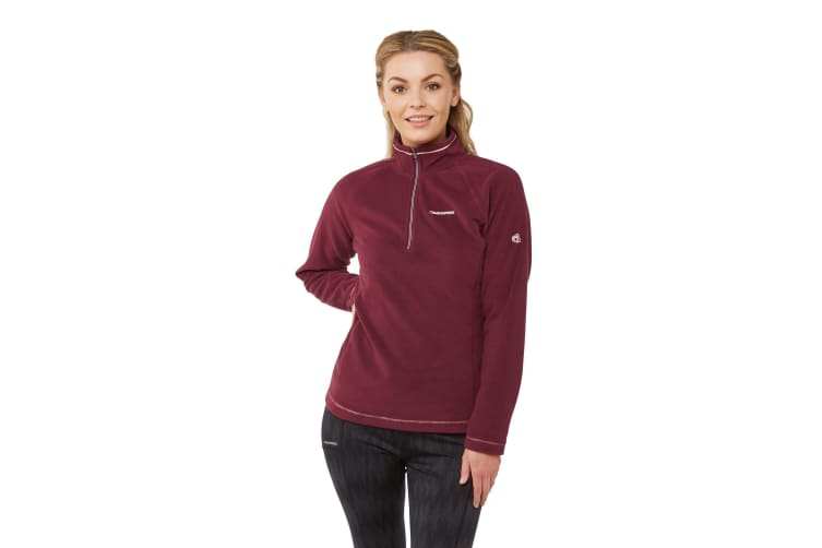 Craghoppers Womens Miska V Half Zip Fleece (Wildberry) (10 UK)