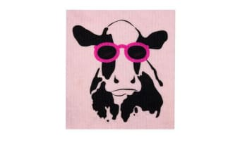 Retro Kitchen Swedish Dish Cloth Cow