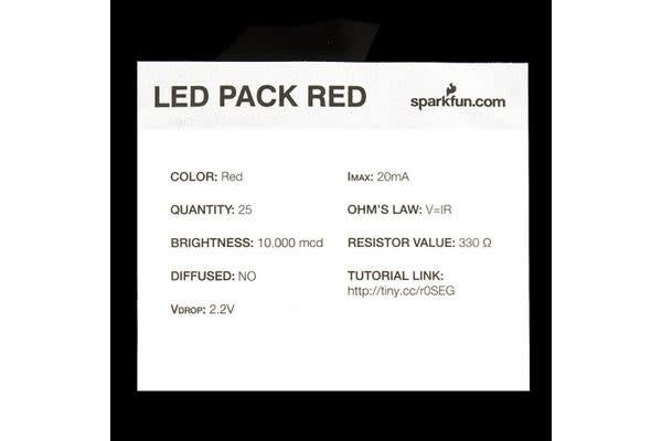 LED - Super Bright Red (25 pack)