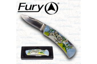 Fury Hunting Camping Fishing Folding Pocket Knife Outdoor Drop Point Blade 20761