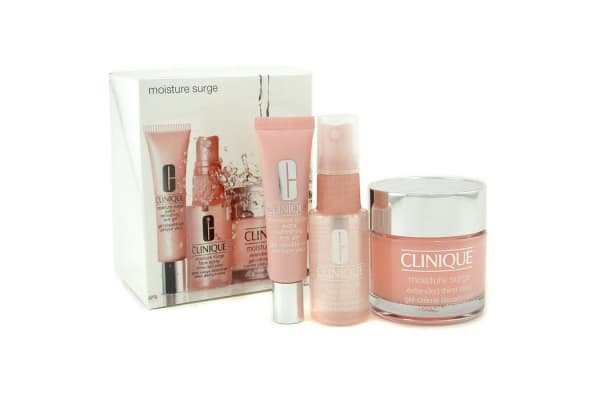 Clinique Moisture Surge Set: Cream 75ml + Eye Gel 15ml + Face Spray 30ml (3pcs)