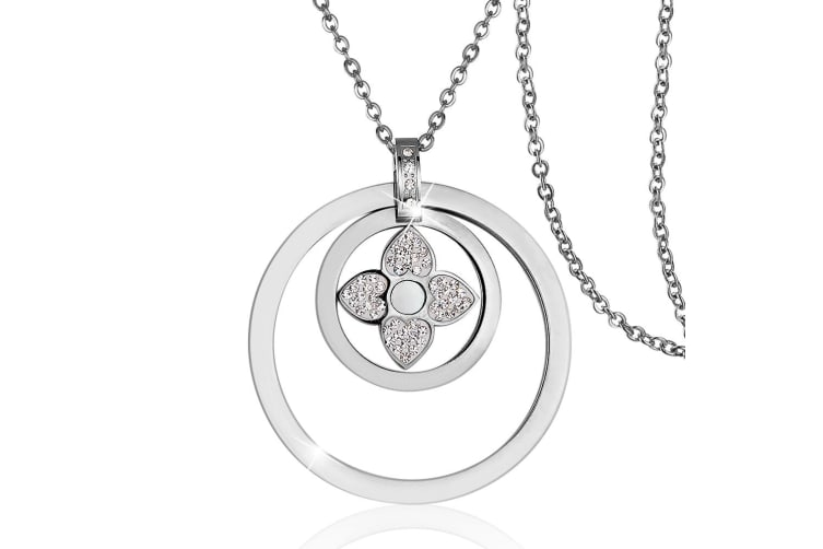 Ashanta Necklace-White Gold/Clear