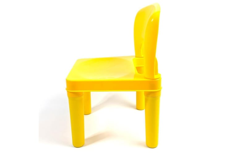 Kids Chair for Build Blocks LEGO Play Table - Yellow