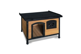 Medium Pet Dog Kennel (Black)