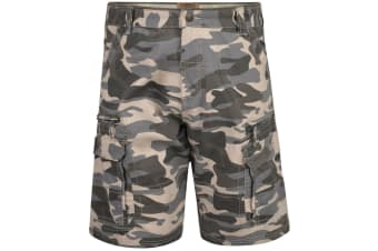Kam Jeanswear Mens Camo Cargo Shorts (Charcoal) (44in)