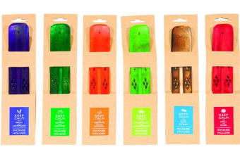 3 x Keep Calm Coloured Wooden Incense Holder Assorted
