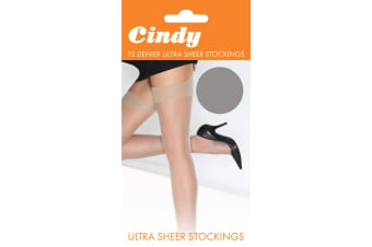 Cindy Womens/Ladies 10 Denier Ultra Sheer Stockings (1 Pair) (Diamond)