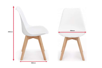 Shangri-La Set of 2 Ester Dining Chairs (White)