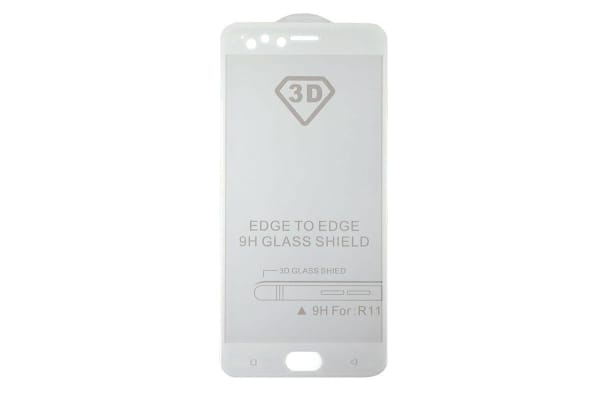 ilike 3D Tempered Glass Screen Protector for OPPO R11 - White