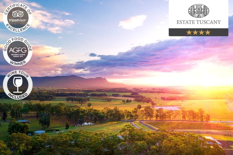 HUNTER VALLEY: 2 Night Wine Lovers Escape at Estate Tuscany, Pokolbin NSW