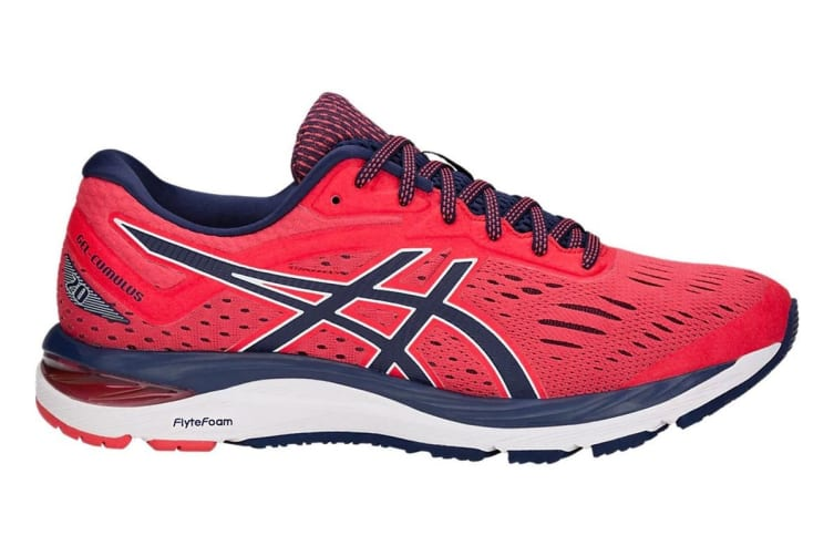 ASICS Men's Gel-Cumulus 20 Running Shoe (Red Alert/Peacoat, Size 8)