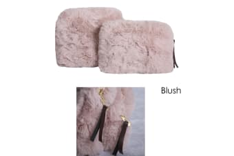 Demi Set of 2 Cosmetic Pouches Blush by J Elliot Home