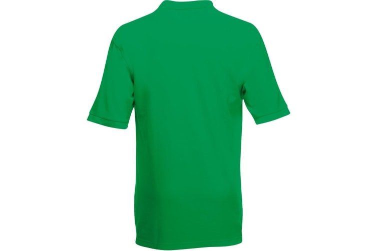 Fruit Of The Loom Premium Mens Short Sleeve Polo Shirt (Kelly Green) (XL)