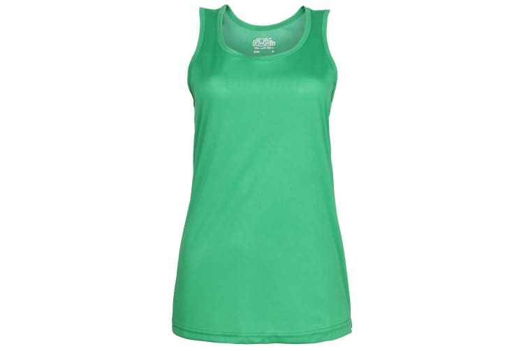 Just Cool Girlie Fit Sports Ladies Vest / Tank Top (Kelly Green) (M)