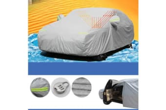 Double thicker waterproof car cover rain resistant
