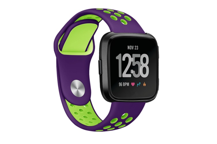 Fitbit Versa Bands Sport Silicone Breathable Strap Replacement Purple&Green
