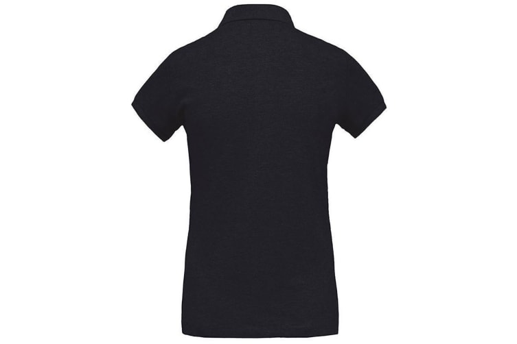 Kariban Womens/Ladies Organic Pique Polo Shirt (French Navy Heather) (S)
