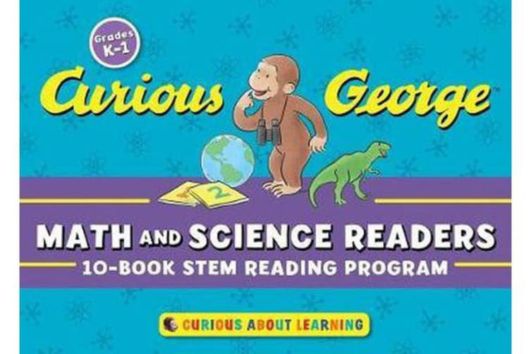 Curious George Math and Science Readers - 10 Book STEM Reading Program