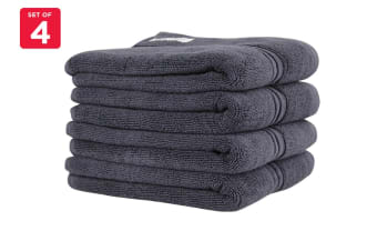 Onkaparinga Ethan 600GSM Hand Towel Set of 4 (Charcoal)