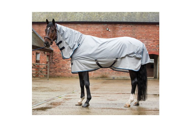 Mark Todd Showerproof Combo Fly Rug (Grey/Silver) (6 ft 9)