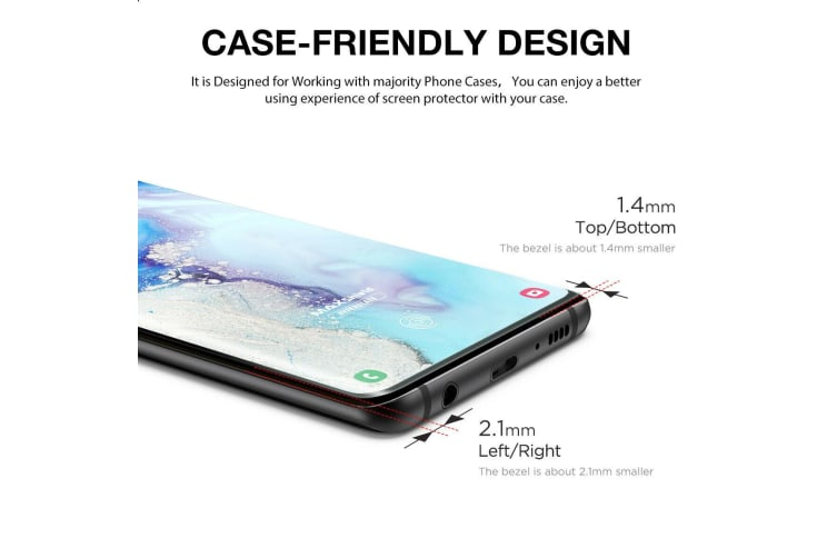 Galaxy S9 Plus Case Friendly Tempered Glass Screen Protector