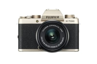 New Fujifilm X-T100 Mirrorless 24MP (15-45mm) Digital Camera Champagne Gold (FREE DELIVERY + 1 YEAR AU WARRANTY)