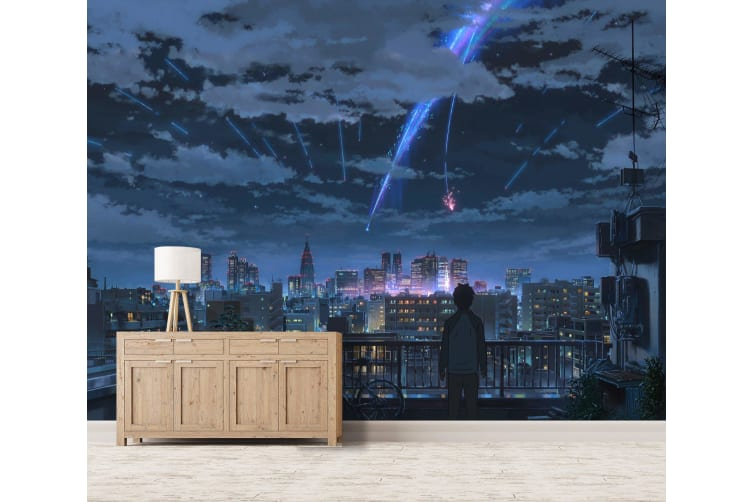 3D Your Name 075 Anime Wall Murals Woven paper (need glue), XXXL 416cm x 254cm (WxH)(164''x100'')