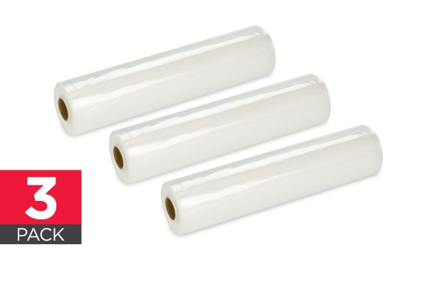 3 Pack Food Vacuum Sealer Rolls (28cm x 5m)