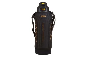 Thermos Hydration 1.5L Vacuum Insulated Sports Bottle Drink Flask w  Pouch Black