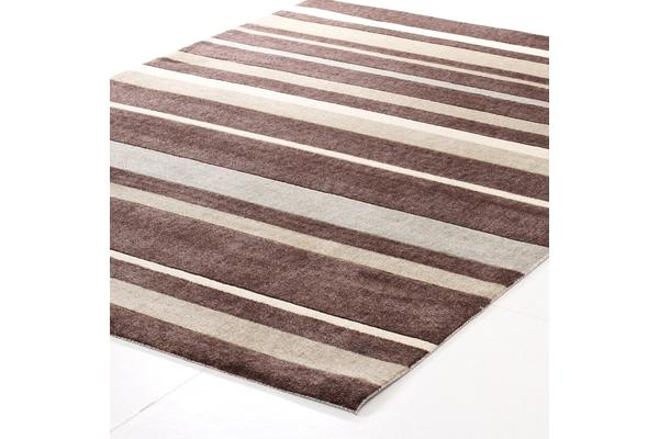 Stylish Stripe Rug Brown Beige 160x110cm