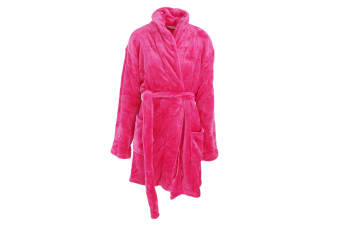 Forever Dreaming Womens/Ladies Supersoft Fleece Dressing Gown (Hot Pink)