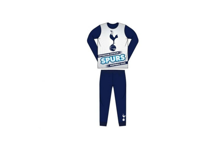 Tottenham Hotspur FC Childrens/Kids Sublimation Pyjamas (Blue) (3-4 Years)
