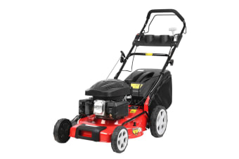 Giantz Lawn Mower Electric Push Start Self Propelled Lawnmower 4 Stroke 18