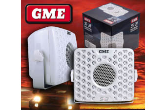GME S3 SPEAKERS OUTDOOR WATERPROOF MARINE DUSTPROOF SUIT CD STEREO MP3 AM FM