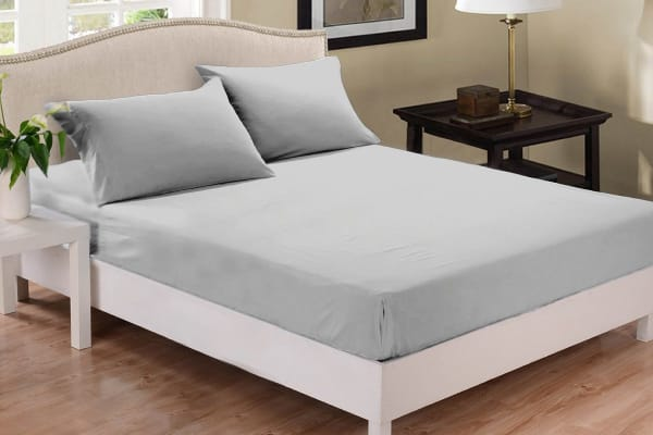 Park Avenue 1000 Thread Count Cotton Blend Combo Set (Mega King, Silver)