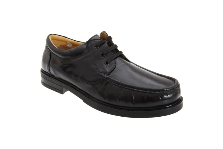 Roamers Mens Padded Softie Leather Moccasin Type Shoes (Black) (9 UK)