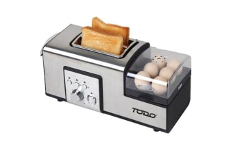 TODO 1250W Breakfast Master Toaster Egg Poacher Cooker All in One