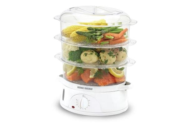 George Foreman 800W 3 Tier Food Steamer (GF3TSM)