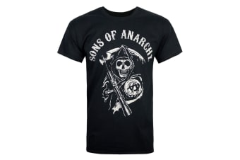 Sons Of Anarchy Official Mens Reaper Mens T-Shirt (Black)